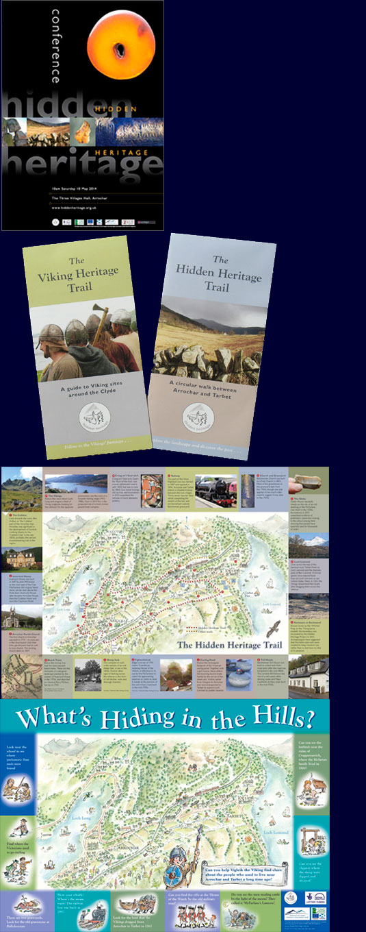 Graphics for Hidden Heritage, Argyll